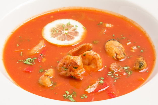 Zuppa di pomodoro fresco