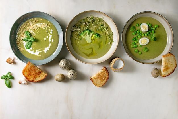 Zuppa di verdure verde
