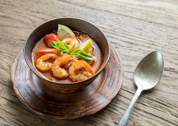 Zuppa piccante francese con frutti di mare