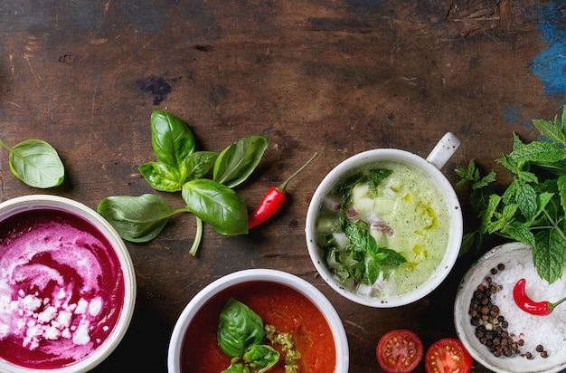 Zuppe vegetariane fredde
