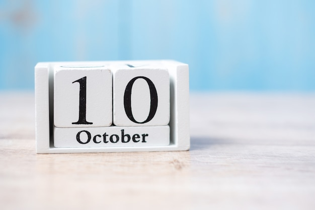 10 de outubro do calendário branco. dia mundial da saúde mental