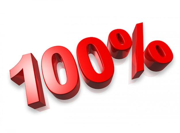 100% cem por cento