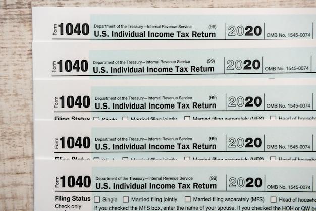 1040 formulário fiscal fechar documento financeiro hora do imposto