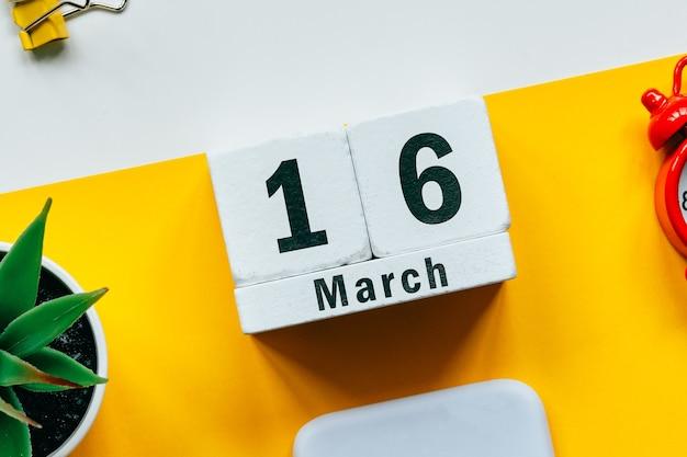 16 décimo sexto dia de março do calendário do mês da primavera.