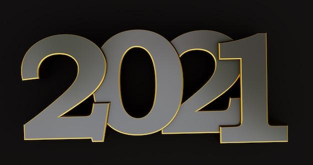 2021 ano novo isolado no preto