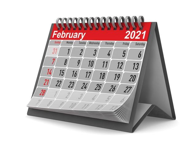2021 anos. calendário para fevereiro.