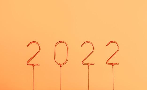 2022 números feliz ano novo e feliz natal banner template feriados background