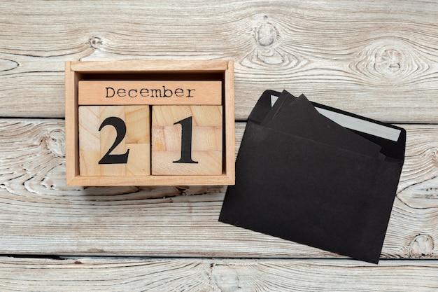 21 de dezembro. dia 21 de dezembro, calendário. inverno