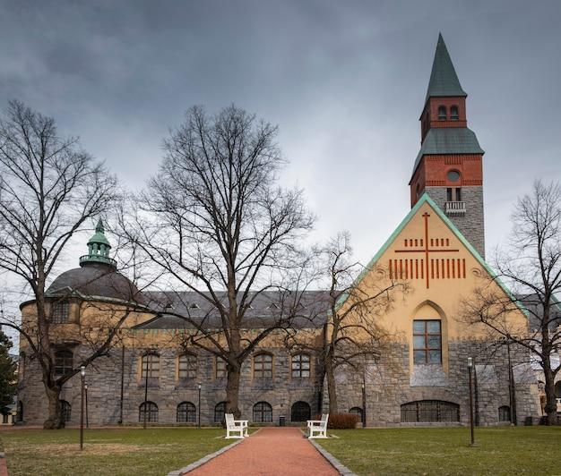 26 de abril de 2019 f helsinque, finlândia. construção do museu nacional
