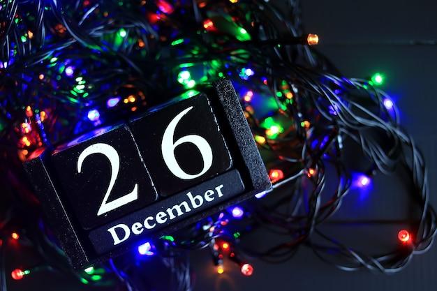 26 de dezembro, vinte e seis de dezembro Foto Premium