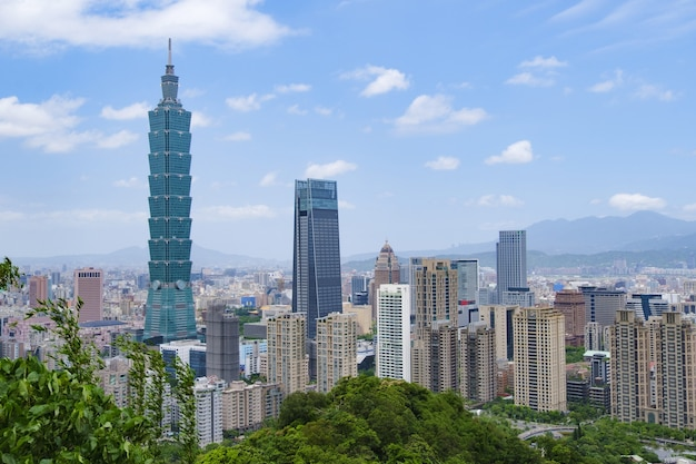 3 de maio de 2019: vista panorâmica da cidade de taipei, taipei taiwan.