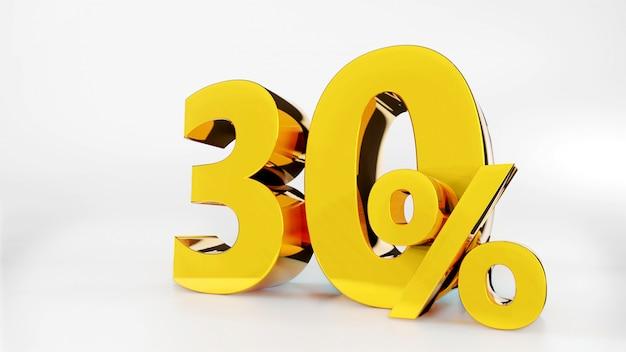 30% símbolo dourado