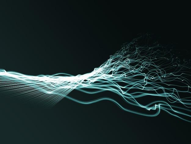 3d abstrato fluindo fios torcidos