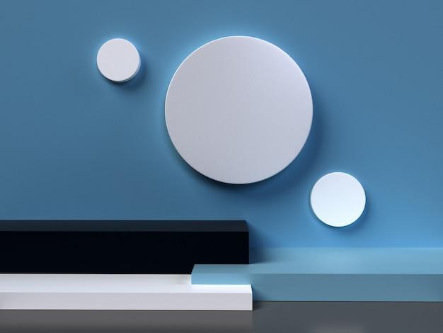 3d abstrato que rende o fundo geométrico. design minimalista com espaço vazio.