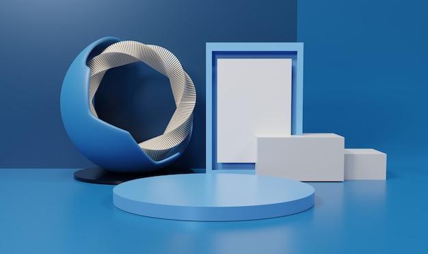 3d abstratos formas geométricas mínimas. pódio de luxo brilhante para seu projeto. cena de cor pastel para mostrar o produto.