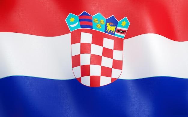 3d bandeira da croácia.