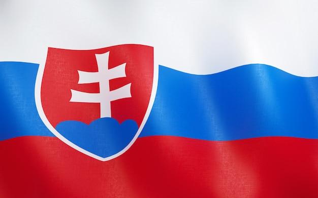 3d bandeira da eslováquia.