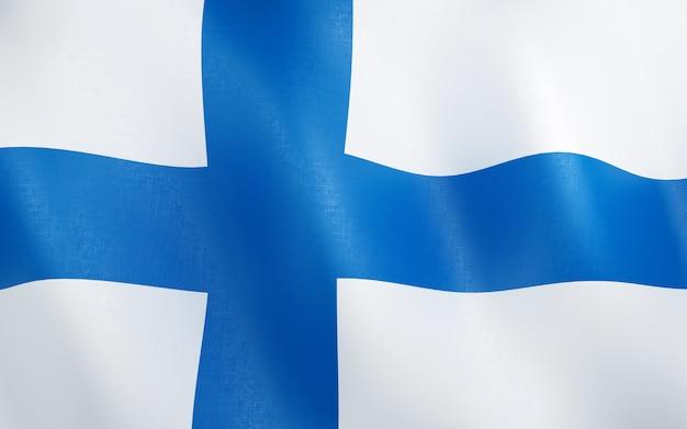 3d bandeira da finlândia.