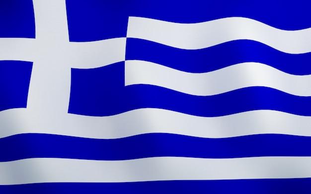 3d bandeira da grécia.