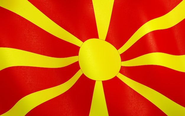 3d bandeira da macedônia