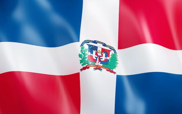 3d bandeira da república dominicana.