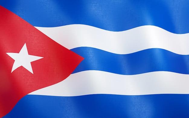 3d bandeira de cuba.