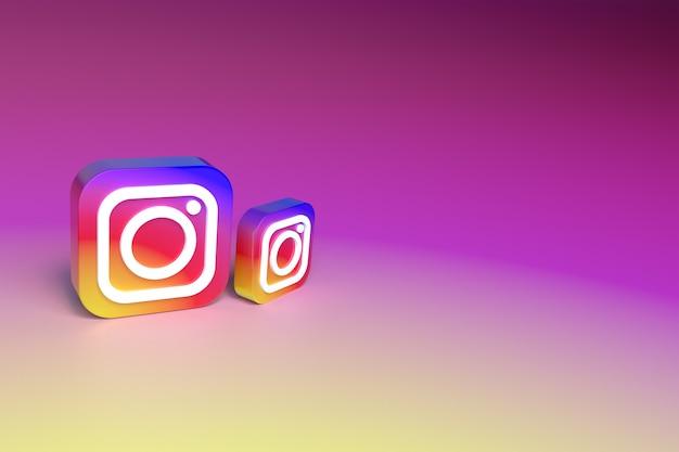 3d do ícone do instagram