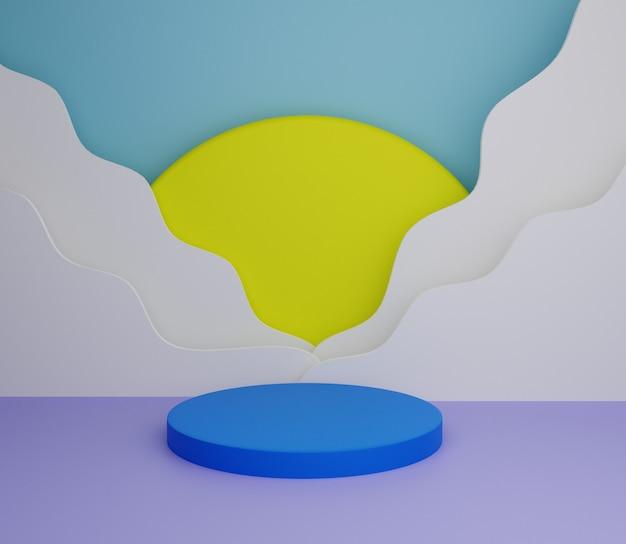3d ilustração fundo colorido simples minimalista
