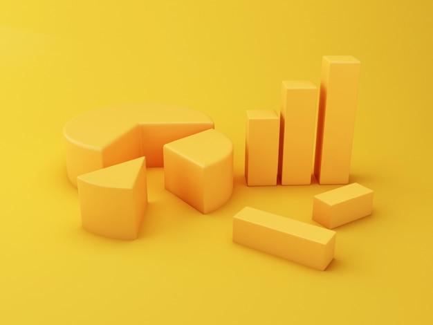 3d infográfico diferentes gráficos