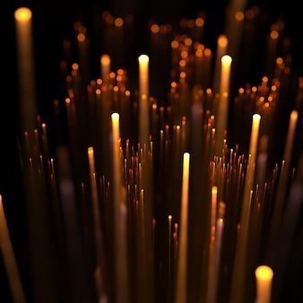 3d luz laranja raias raios fundo