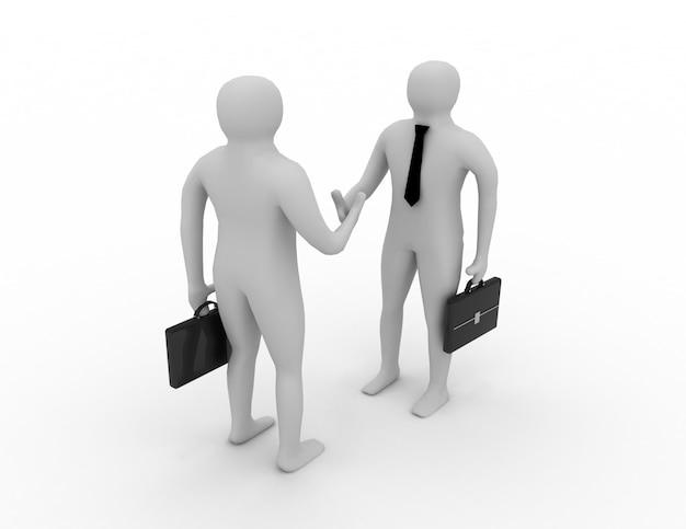 3d man handshake.business concept