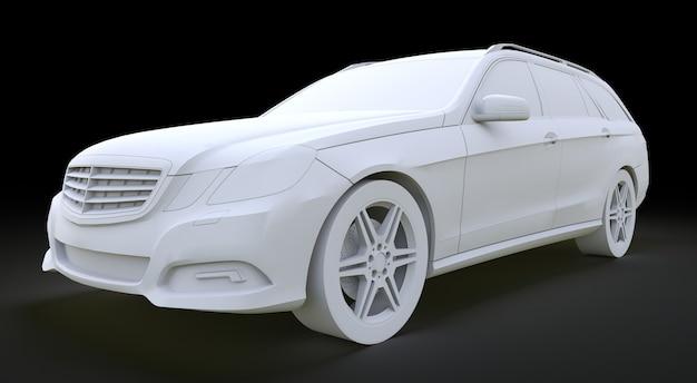 3d modelo grande carro familiar renderização em 3d