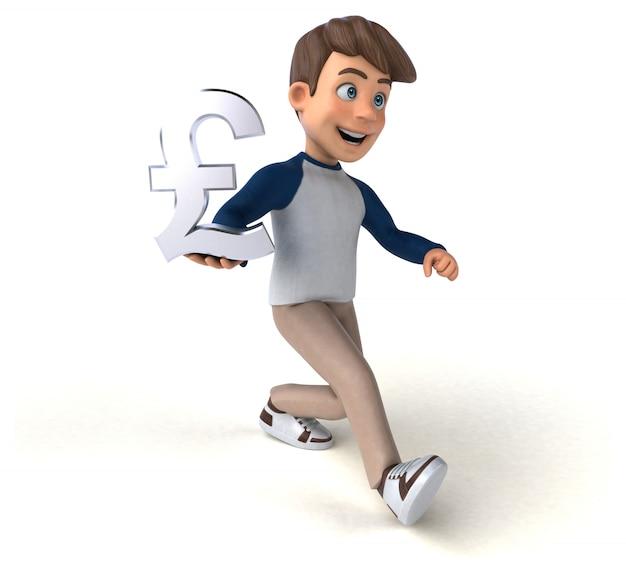 3d personagem de desenho animado divertido adolescente
