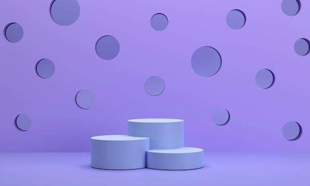 3d. pódio circular e pano de fundo perfurado usado para exibir produtos