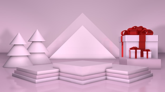 3d pódio triângulo christma