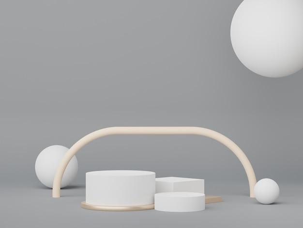 3d podium para colocação de produto com conceito de design retro moderno e contemporâneo