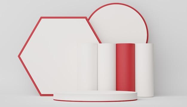 3d podium para colocação de produto com design retro moderno e contemporâneo