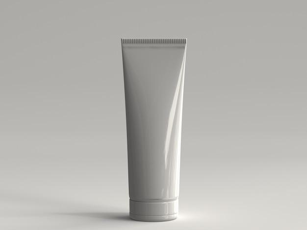 3d, processado, cosmético, tubo, sem, um, etiqueta
