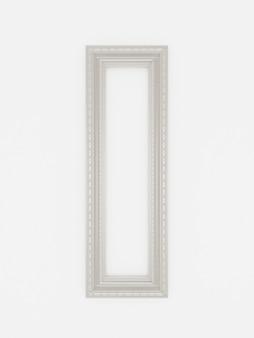 3d quadros vintage vazios na parede branca