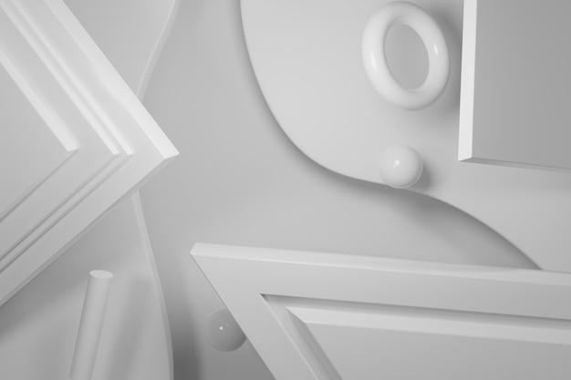 3d que rende o fundo abstrato geométrico