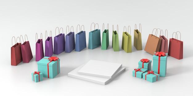 3d que rende o pódio pastel verde para o produto