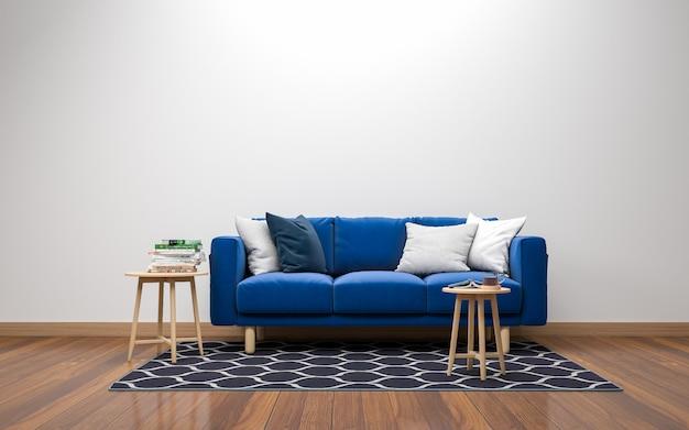 3d realista sala de estar interior