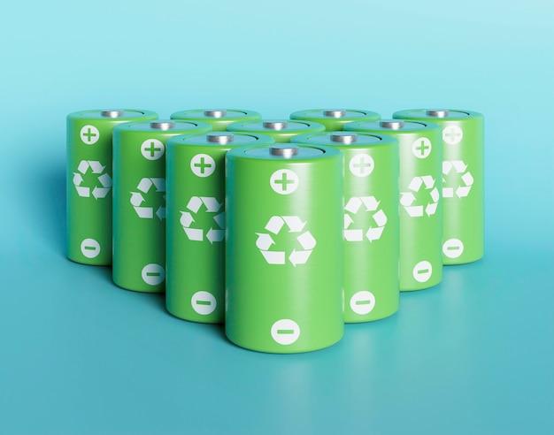 3d reciclar baterias