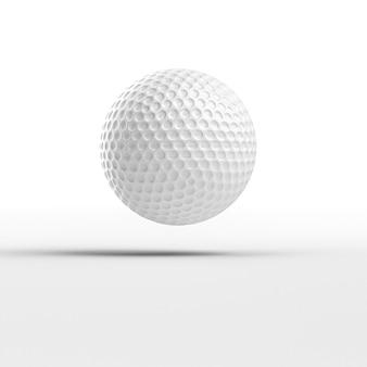 3d rendem a imagem de uma bola de golfe no branco.