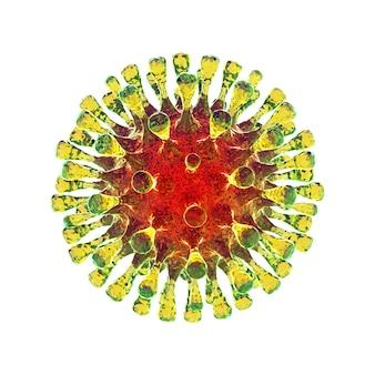3d rendem de coronavírus
