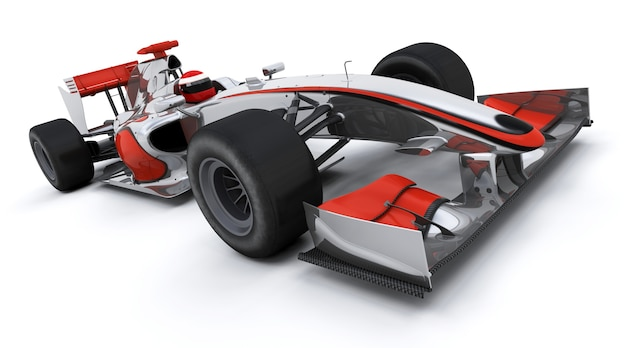 3d rendem de um carro de fórmula um corridas