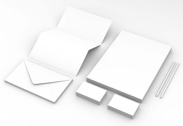 3d rendem dos artigos de papelaria