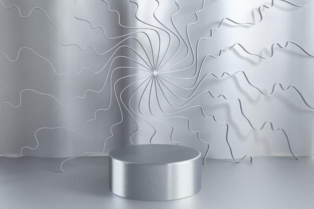 3d render abstract background vazio pódio, pedestal, cena