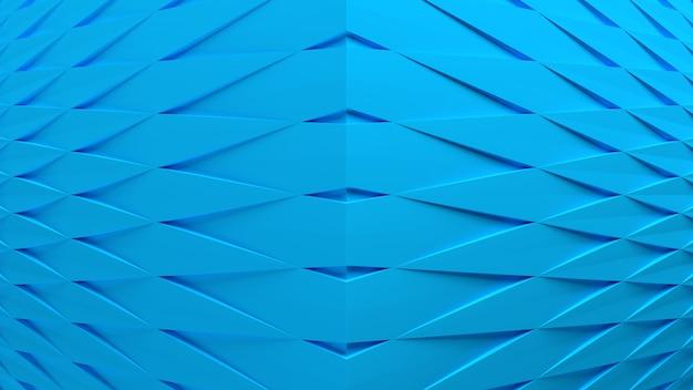 3d render abstrato azul composição fundo papel de parede padrão geométrico molda iluminação leve