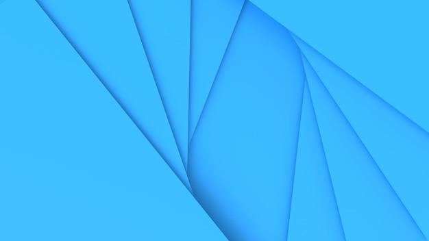 3d render abstrato azul